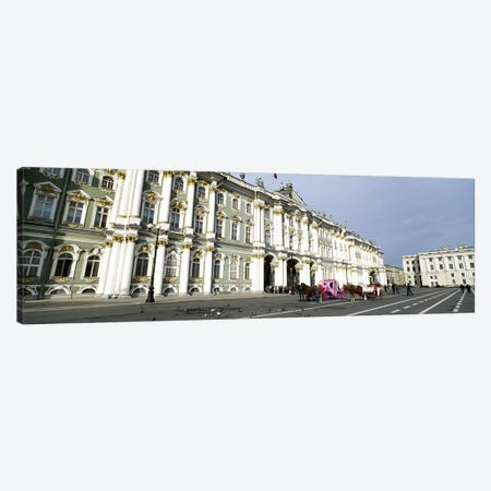 Museum along a road, State Hermitage Museum, Winter Palace, Palace Square, St. Petersburg, Russia Canvas Print #PIM6206} by Panoramic Images Art Print