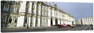 Museum along a road, State Hermitage Museum, Winter Palace, Palace Square, St. Petersburg, Russia Canvas Print #PIM6206