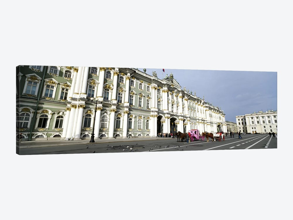 Museum along a road, State Hermitage Museum, Winter Palace, Palace Square, St. Petersburg, Russia 1-piece Art Print