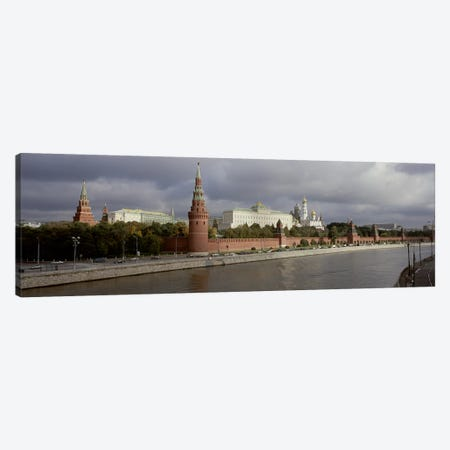 Buildings along a river, Grand Kremlin Palace, Moskva River, Moscow, Russia Canvas Print #PIM6208} by Panoramic Images Canvas Art