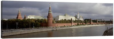 Buildings along a river, Grand Kremlin Palace, Moskva River, Moscow, Russia Canvas Art Print