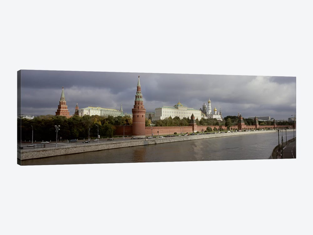 Buildings along a river, Grand Kremlin Palace, Moskva River, Moscow, Russia by Panoramic Images 1-piece Art Print