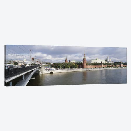 Bridge across a river, Bolshoy Kamenny Bridge, Grand Kremlin Palace, Moskva River, Moscow, Russia Canvas Print #PIM6211} by Panoramic Images Canvas Print