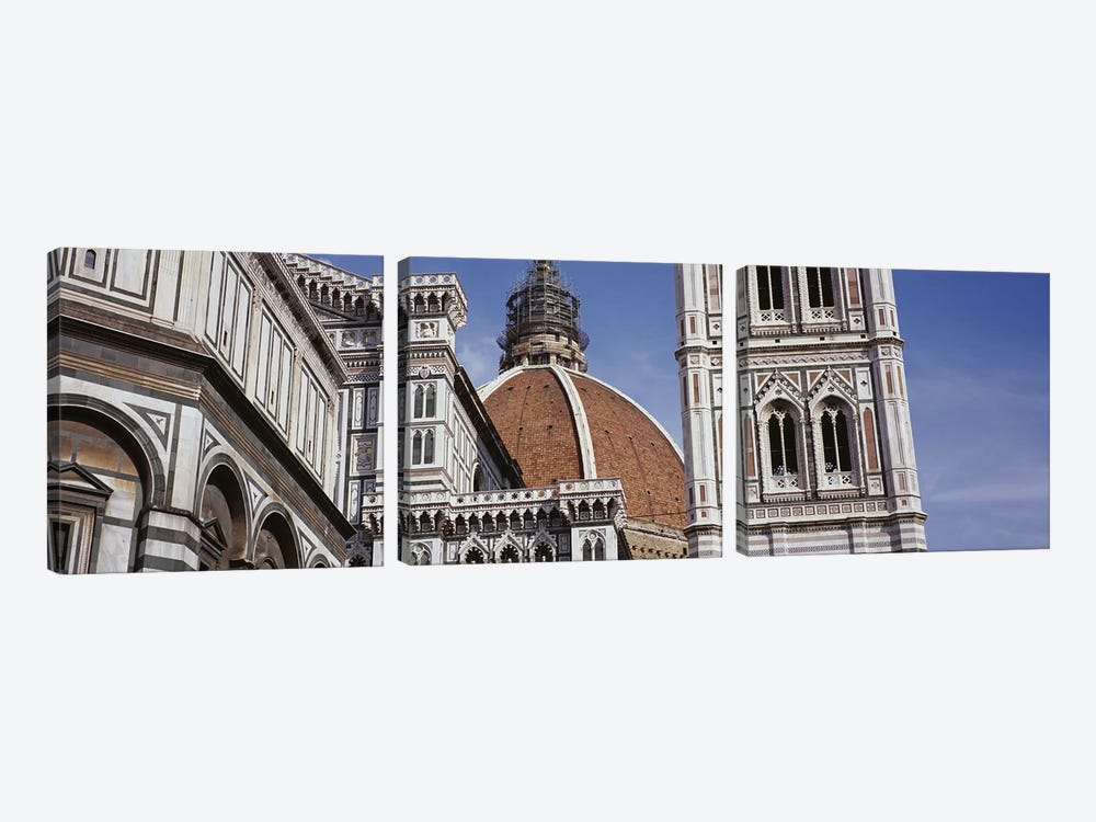 Low angle view of a cathedral, Duomo Santa Maria Del Fiore, Florence, Tuscany, Italy by Panoramic Images 3-piece Canvas Art