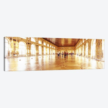 Group of people inside a ballroom, Catherine Palace, Pushkin, St. Petersburg, Russia Canvas Print #PIM6214} by Panoramic Images Canvas Artwork
