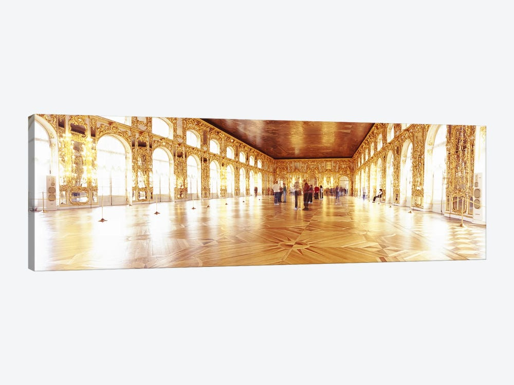 Group of people inside a ballroom, Catherine Palace, Pushkin, St. Petersburg, Russia by Panoramic Images 1-piece Canvas Wall Art