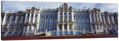 Facade of a palace, Catherine Palace, Pushkin, St. Petersburg, Russia Canvas Print #PIM6216