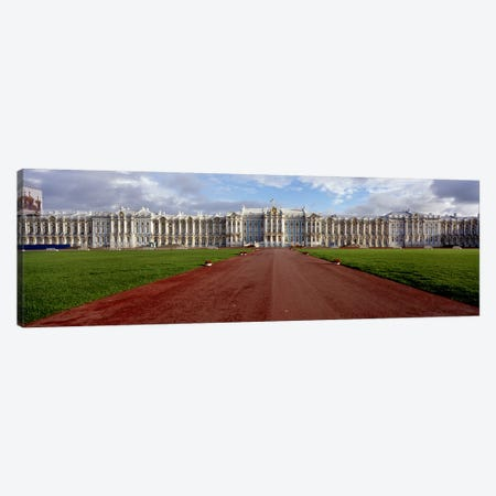 Dirt road leading to a palaceCatherine Palace, Pushkin, St. Petersburg, Russia Canvas Print #PIM6217} by Panoramic Images Canvas Artwork
