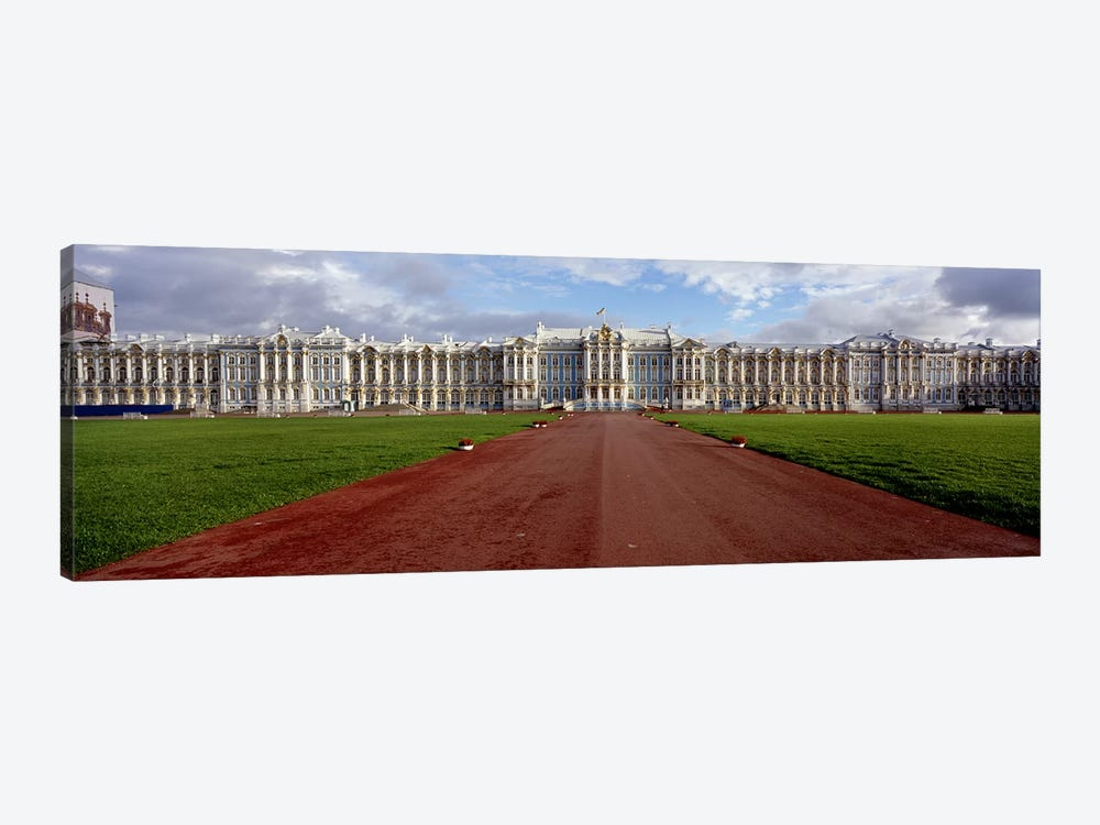 Dirt road leading to a palaceCatherine Palace, Pushkin, St. Petersburg, Russia by Panoramic Images 1-piece Art Print