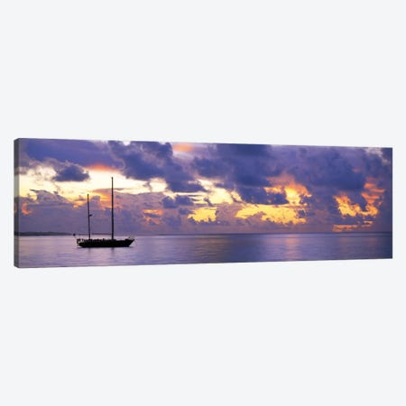 Sunset Moorea French Polynesia Canvas Print #PIM621} by Panoramic Images Canvas Wall Art