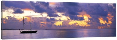 Sunset Moorea French Polynesia Canvas Art Print
