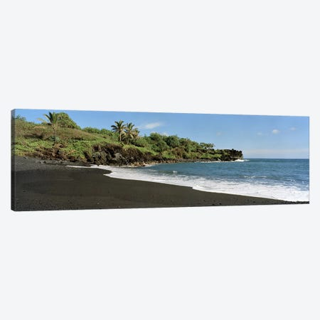 Black Sand Beach, Waiʻanapanapa State Park, Maui, Hawai'i, USA Canvas Print #PIM6224} by Panoramic Images Canvas Art Print