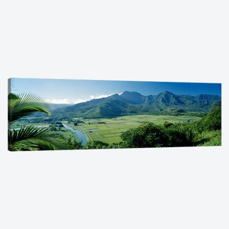 Hanalei Valley As Seen From The Lookout Near Princeville, Kauai, Hawaii, USA Canvas Print #PIM6233} by Panoramic Images Canvas Art Print