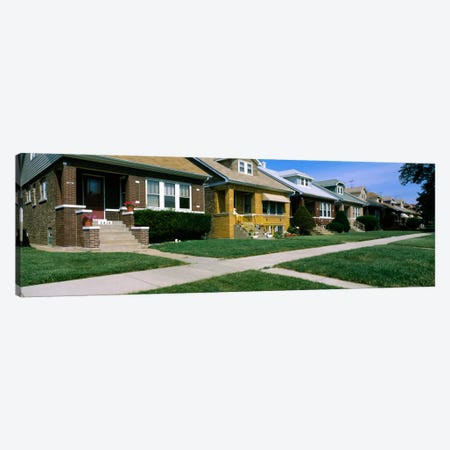 Bungalows in a row, Berwyn, Chicago, Cook County, Illinois, USA Canvas Print #PIM623} by Panoramic Images Canvas Wall Art