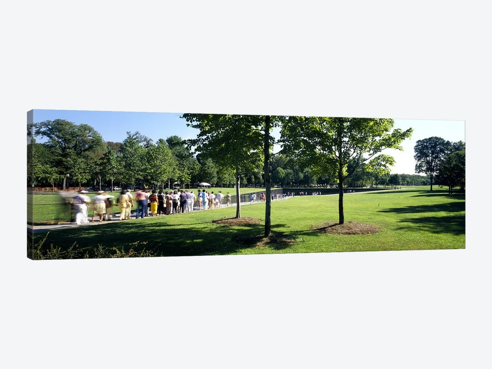 Tourists at a memorialVietnam Veterans Memorial, Washington DC, USA by Panoramic Images 1-piece Art Print