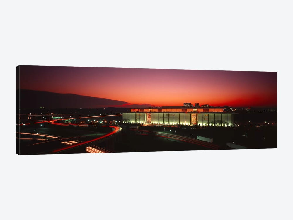 High angle view of a building lit up at nightJohn F. Kennedy Center for the Performing Arts, Washington DC, USA by Panoramic Images 1-piece Canvas Art Print