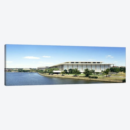 Buildings along a riverPotomac River, John F. Kennedy Center for the Performing Arts, Washington DC, USA Canvas Print #PIM6243} by Panoramic Images Canvas Wall Art