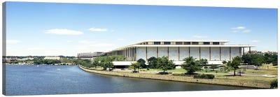 Buildings along a riverPotomac River, John F. Kennedy Center for the Performing Arts, Washington DC, USA Canvas Print #PIM6243
