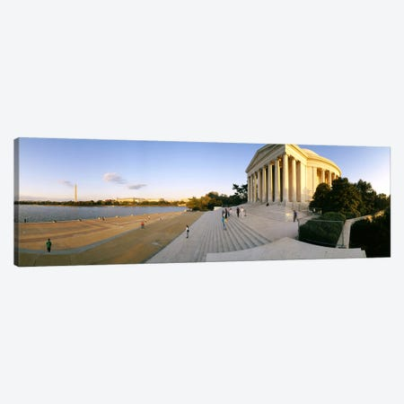 Monument at the riversideJefferson Memorial, Potomac River, Washington DC, USA Canvas Print #PIM6244} by Panoramic Images Canvas Print