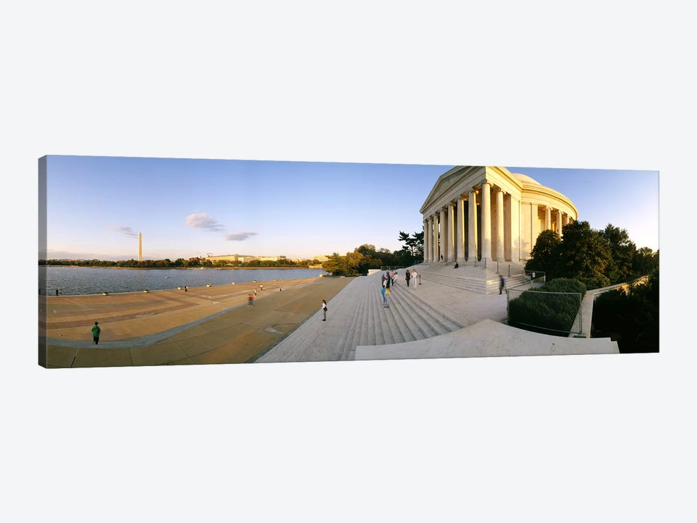 Monument at the riversideJefferson Memorial, Potomac River, Washington DC, USA by Panoramic Images 1-piece Canvas Print