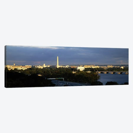 High angle view of a monumentWashington Monument, Potomac River, Washington DC, USA Canvas Print #PIM6246} by Panoramic Images Art Print