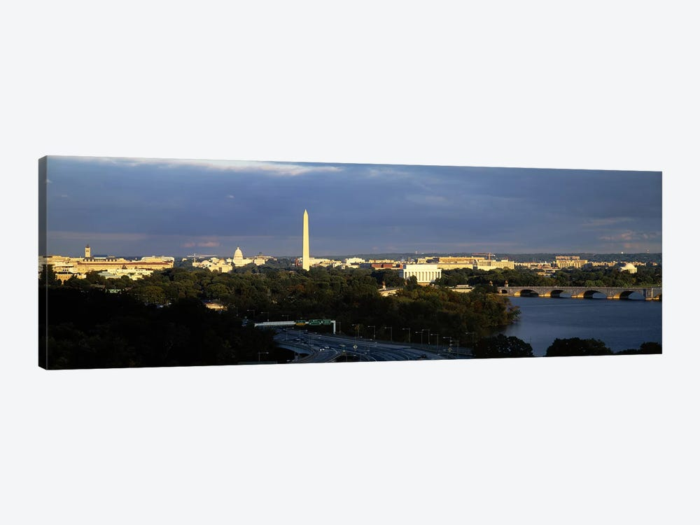 High angle view of a monumentWashington Monument, Potomac River, Washington DC, USA by Panoramic Images 1-piece Canvas Print