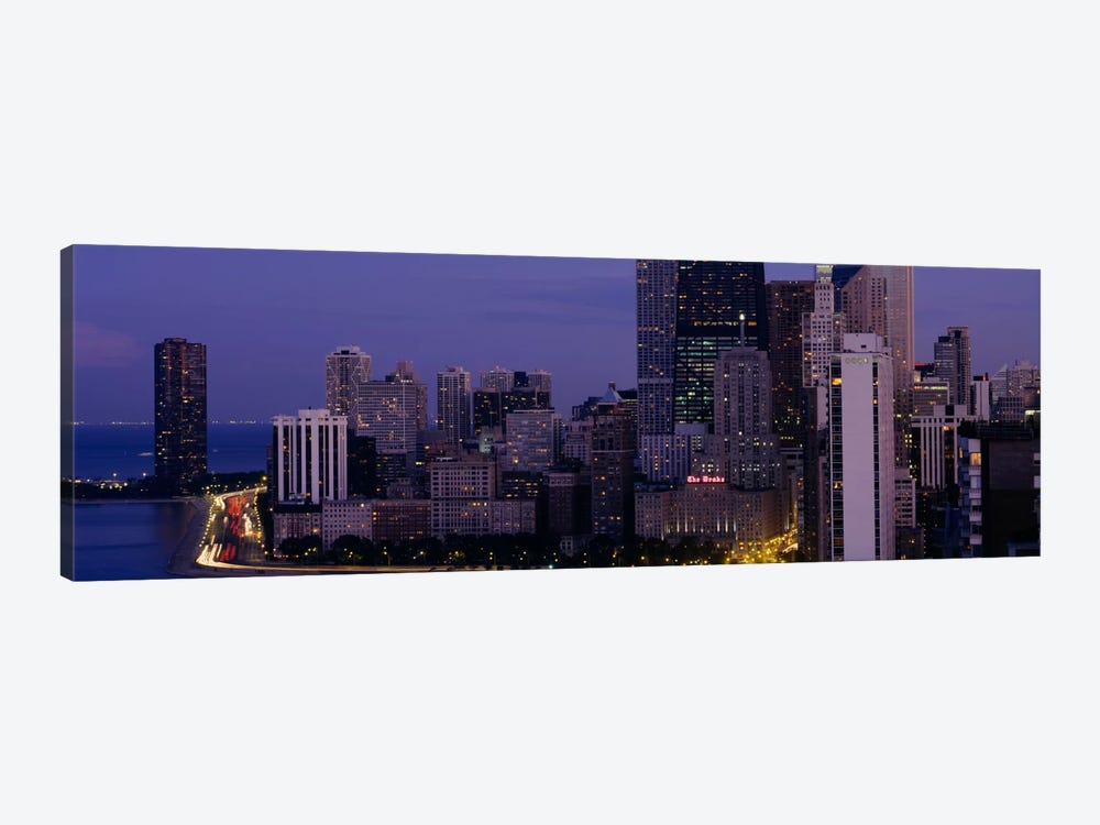Buildings in a city, Chicago, Cook County, Illinois, USA by Panoramic Images 1-piece Canvas Wall Art