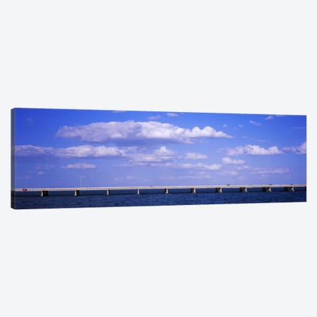 Bridge across a baySunshine Skyway Bridge, Tampa Bay, Florida, USA Canvas Print #PIM6251} by Panoramic Images Canvas Print