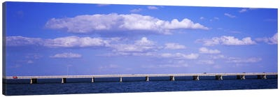 Bridge across a baySunshine Skyway Bridge, Tampa Bay, Florida, USA Canvas Art Print