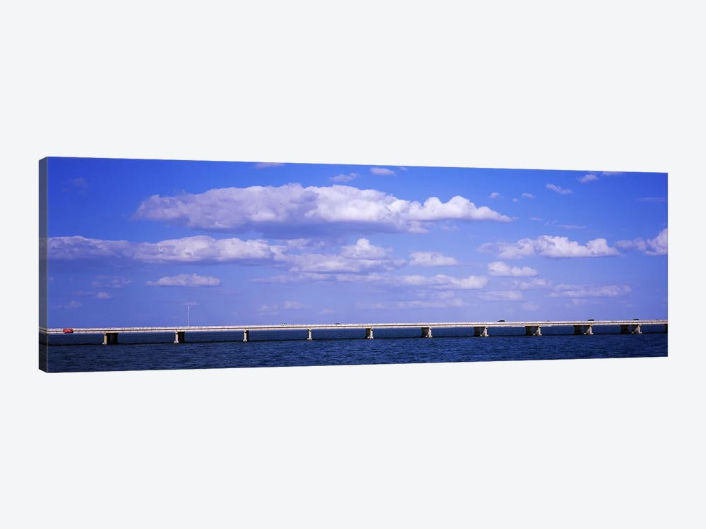 Bridge across a baySunshine Skyway Bridge, Tampa Bay, Florida, USA by Panoramic Images 1-piece Canvas Art Print