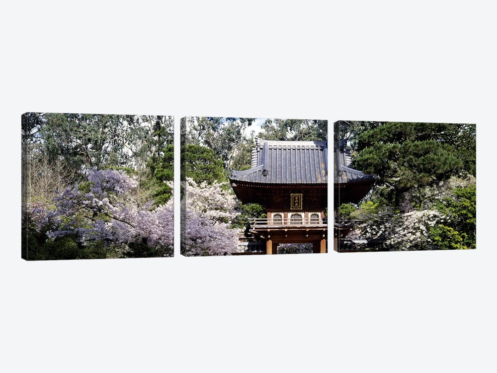 Low angle view of entrance of a parkJapanese Tea Garden, Golden Gate Park, San Francisco, California, USA by Panoramic Images 3-piece Canvas Art