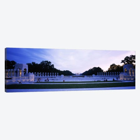 Tourists at a war memorialNational World War II Memorial, Washington DC, USA Canvas Print #PIM6254} by Panoramic Images Canvas Artwork