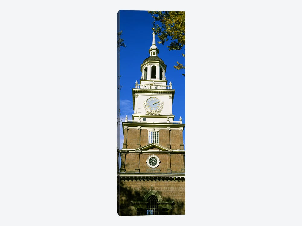 Low angle view of a clock tower, Independence Hall, Philadelphia, Pennsylvania, USA by Panoramic Images 1-piece Canvas Wall Art