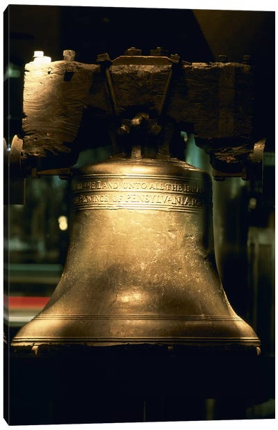Close-up of a bell, Liberty Bell, Philadelphia, Pennsylvania, USA Canvas Print #PIM6259