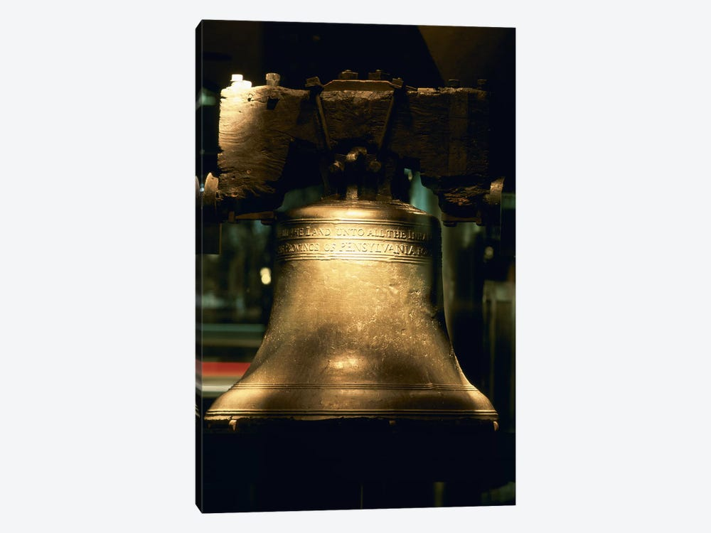 Close-up of a bell, Liberty Bell, Philadelphia, Pennsylvania, USA by Panoramic Images 1-piece Canvas Print