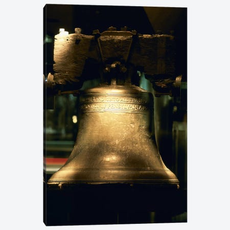 Close-up of a bell, Liberty Bell, Philadelphia, Pennsylvania, USA Canvas Print #PIM6259} by Panoramic Images Art Print