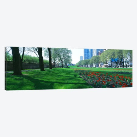 Public Gardens, Loop, Cityscape, Grant Park, Chicago, Illinois, USA Canvas Print #PIM625} by Panoramic Images Canvas Art Print