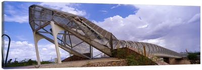 Pedestrian bridge over a river, Snake Bridge, Tucson, Arizona, USA Canvas Art Print