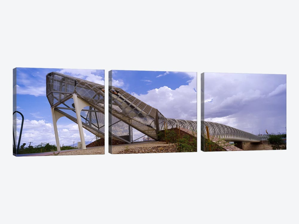 Pedestrian bridge over a river, Snake Bridge, Tucson, Arizona, USA by Panoramic Images 3-piece Canvas Art Print