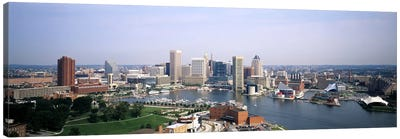 Skyscrapers in a city, Baltimore, Maryland, USA Canvas Print #PIM6266