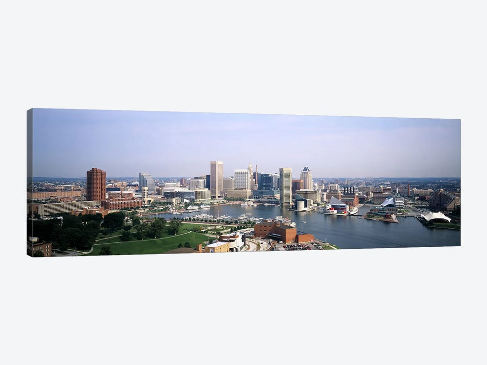 Skyscrapers in a city, Baltimore, Maryland, USA by Panoramic Images 1-piece Canvas Art Print