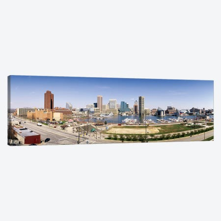 Skyscrapers in a city, Baltimore, Maryland, USA #2 Canvas Print #PIM6267} by Panoramic Images Canvas Print