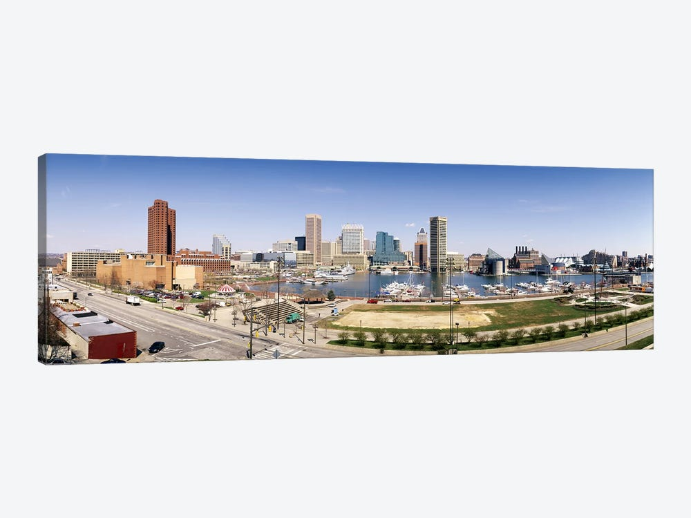 Skyscrapers in a city, Baltimore, Maryland, USA #2 by Panoramic Images 1-piece Canvas Artwork