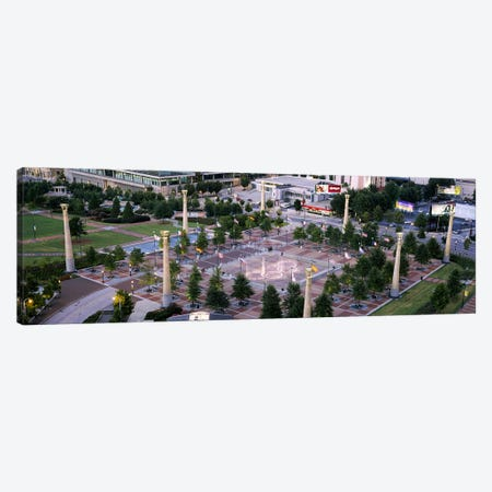 High angle view of a park, Centennial Olympic Park, Atlanta, Georgia, USA Canvas Print #PIM6268} by Panoramic Images Canvas Wall Art