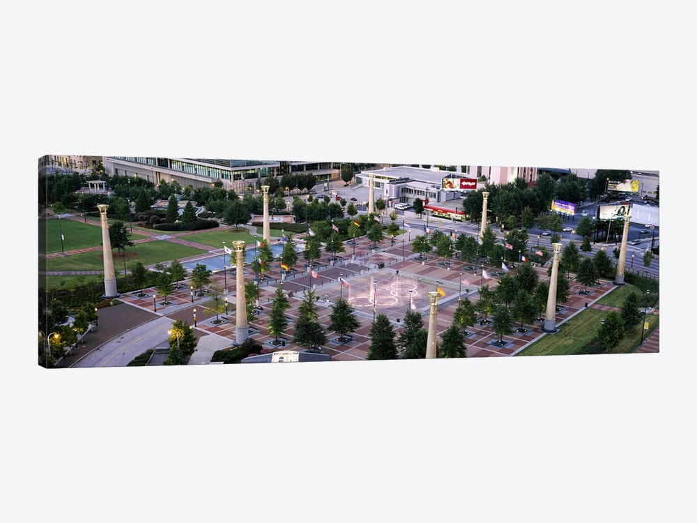 High angle view of a park, Centennial Olympic Park, Atlanta, Georgia, USA by Panoramic Images 1-piece Canvas Print