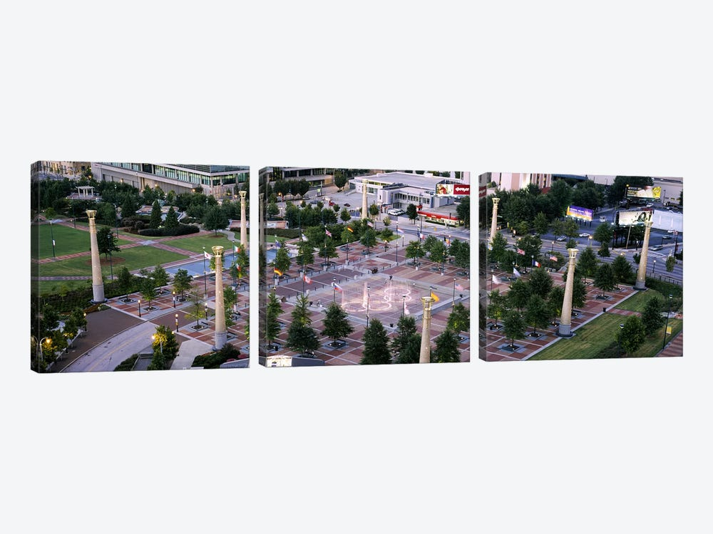 High angle view of a park, Centennial Olympic Park, Atlanta, Georgia, USA by Panoramic Images 3-piece Canvas Print
