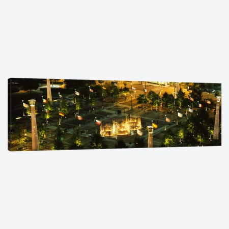 High angle view of fountains in a park lit up at night, Centennial Olympic Park, Atlanta, Georgia, USA Canvas Print #PIM6269} by Panoramic Images Canvas Artwork