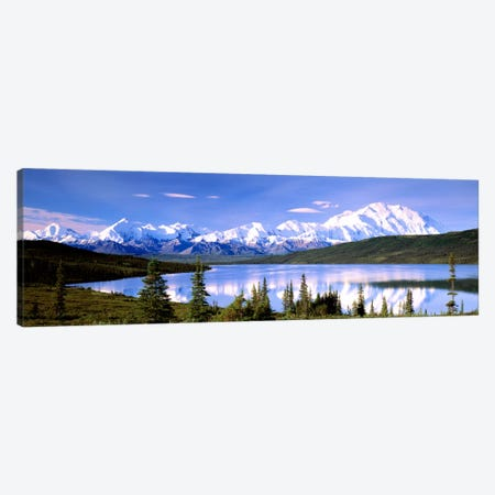Denali (Mount McKinley) & Wonder Lake, Denali National Park & Preserve, Alaska, USA Canvas Print #PIM626} by Panoramic Images Art Print