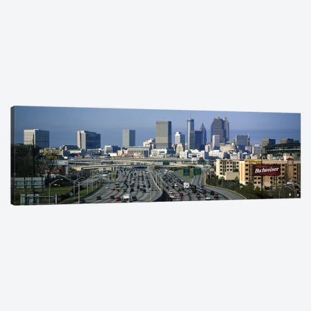 High angle view of traffic on a highway, Atlanta, Georgia, USA Canvas Print #PIM6270} by Panoramic Images Canvas Art Print