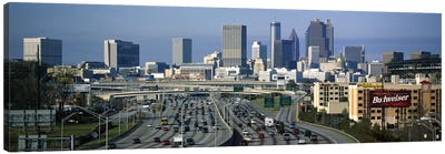 High angle view of traffic on a highway, Atlanta, Georgia, USA Canvas Art Print